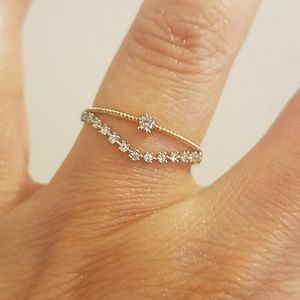 Jewelry - Dainty 14k Yellow gold Wedding Band Promise Ring